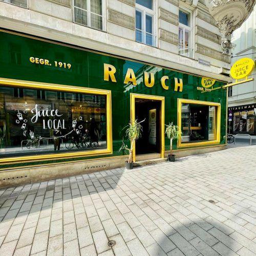 Die Juice Bar von Rauch in der Wiener Neubaugasse zeigt, wohin die Entwicklung in Sachen Nachhaltigkeit geht. FA
