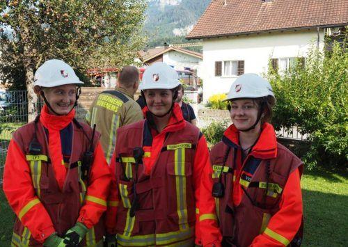 Die jungen Feuerwehrleute waren beim Actionday mit vollem Einsatz und Begeisterung bei der Sache.MIMA/FW Hohenems