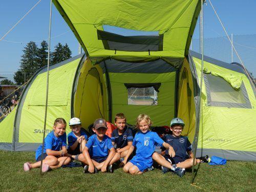 Die meisten Kinder übernachteten an allen drei Tagen in den Zelten, die auf der Sportanlage Rohrbach aufgebaut wurden.