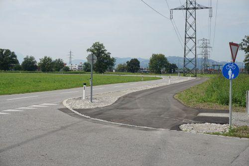 Die neue Radweg-Schnellverbindung an der Weberstraße.hapf