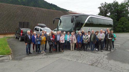 Die OG St. Gallenkirch wanderte nach Bad Rothenbrunnen.OG St. gallenkirch
