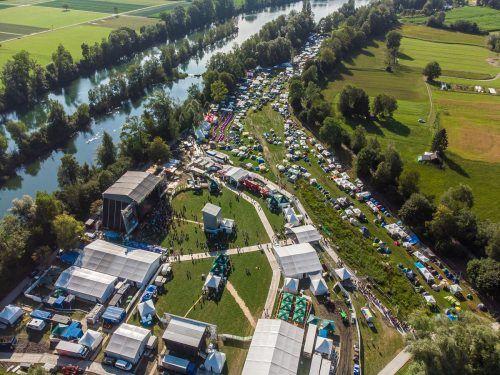 Die Polizei führte während der ganzen Dauer des Openair-Festivals Kontrollen im Nahbereich des Geländes durch. vn/steurer