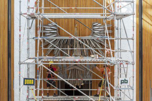 Die Stahlkonstruktion ist nun fertig restauriert. APA/PARLAMENTSDIREKTION