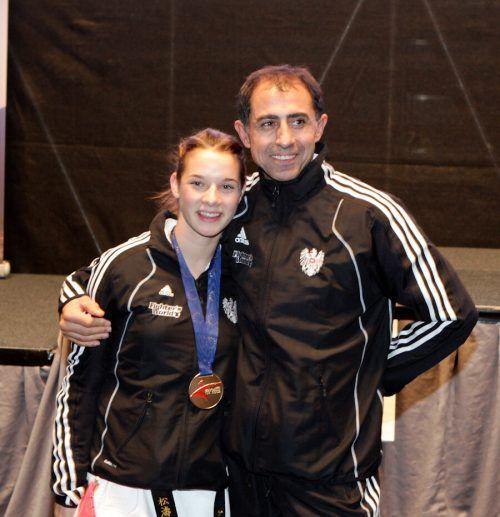 Dragan Leiler und Bettina Plank 2009 mit der Goldenen der ESKA-EM in Wels.ÖKB