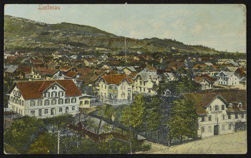 Ein Blick auf Lustenau Kirchdorf noch vor dem Ersten Weltkrieg.