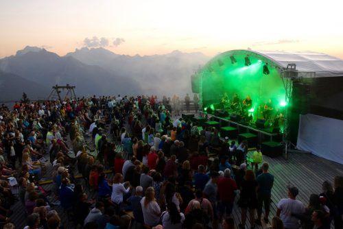 Ein malerischer Sonnenuntergang am Hochjoch bildete die perfekte Kulisse für das Krauthobel-Konzert vergangenen Samstag.SCO