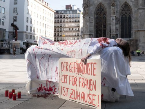 Eine Demonstration gegen häusliche Gewalt in Wien. APA