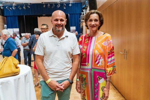 Ex-Landesrätin Bernadette Mennel und OZ-Geschäftsführer Sebastian Manhart.