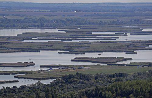 Extreme Hitze und zu wenig Regen haben den drittgrößten natürlichen See Ungarns, den Velencer See, um die Hälfte schrumpfen lassen. AP