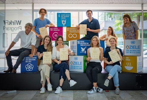 Ein Praktikum mit Blick auf eine nachhaltige Zukunft - das freut alle Teilnehmer der SDG Challenge. Caritas/Philipp Mück