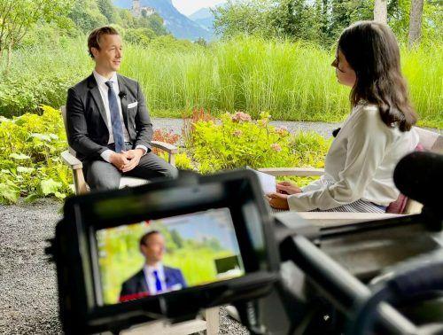 Finanzminister Gernot Blümel im VN-Gespräch im Hotel Sonnenhof in Vaduz. vn