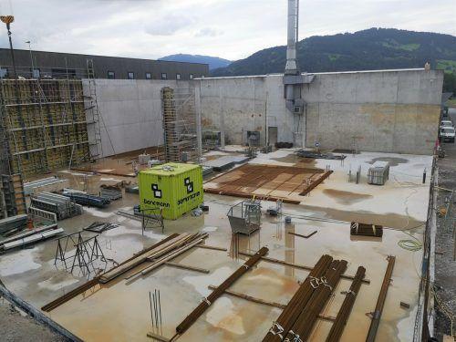 Für den Erweiterungsbau wird der bestehende Käsekeller um 40 Meter verlängert.me/3
