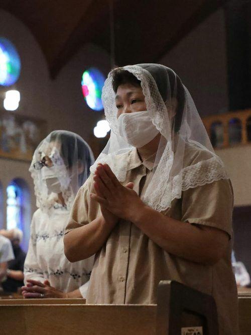 Für die Opfer von Nagasaki gab es eine Gedenkzeremonie. AFP