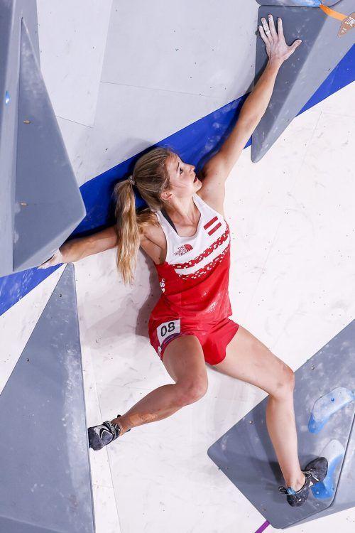 Für Jessica Pilz endete der Kletterbewerb auf Rang sieben. GEPA