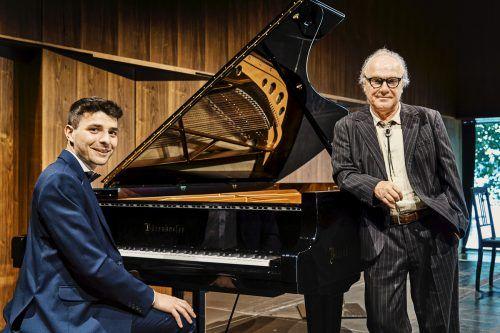 Gabriel Meloni und Michael Köhlmeier in der Reihe Musik & Poesi der Bregenzer Festspiele. BF/Köhler