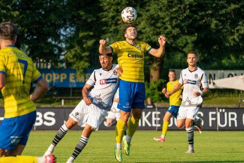 Gegen den Dornbirner SV soll das Team um Torjäger Maurice Wunderli wieder fußballerische Grundtugenden erfüllen.vn-stiplovsek