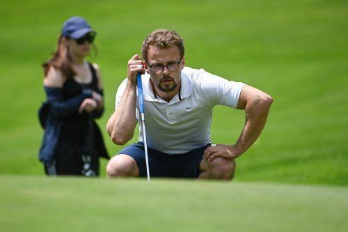 Gegen den Meister vom Diamond Country Club müssen Lucas Hepberger und seine Rankweiler Golfkollegen konzentriert ans Werk.lerch