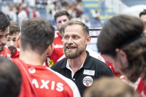 Hards Coach Hannes Jon Jonsson sah einen engagierten Auftritt.sams