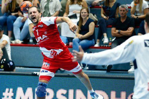 """Hards Flügelspieler Luca Raschle brennt auf das Europacupspiel gegen Toulouse. Zwar sieht er die Franzosen als Favoriten, """"doch das Match muss erst einmal gespielt werden"""".HCH"""