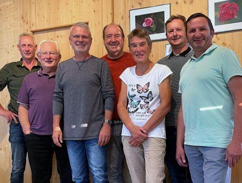 Hüttenwirt Manfred Marinelli, Bruno Simma, Gerhard Unterkofler, Erwin Staudinger, Elisabeth Märk, Markus Pinggera und Willi Witzemann.Naturfreunde Hohenems