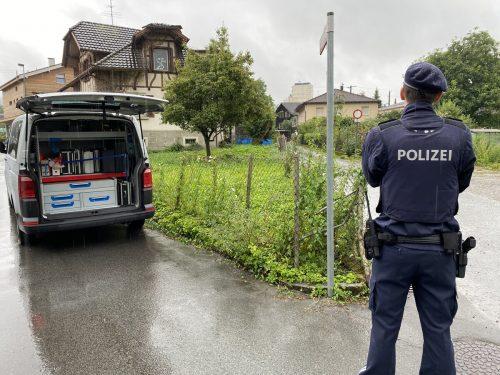 In der Gilmstraße in Dornbirn kam es am Sonntagmittag zu einem Widerstand gegen die Staatsgewalt mit tödlichem Ausgang. vn/rauch
