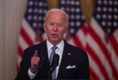 Joe Biden rechtfertigt seine Entscheidung des Abzugs der US-Truppen. AP
