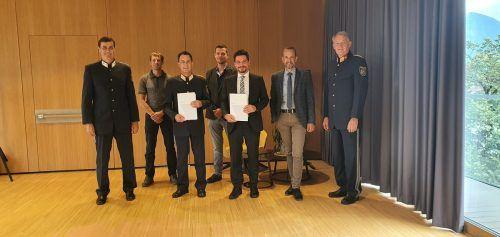 Johannes Berchtel (Thüringen), German Perchtold, stv. Landespolizeidirektor Gerhard Ellensohn, Markus Süß, Markus Prünster, Christian Fiel, Norbert Gwehenberger.LPD VOrarlberg