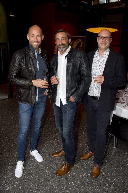 Johannes Sturn (l.) sowie Wolfgang Ender und Markus Hagspiel.
