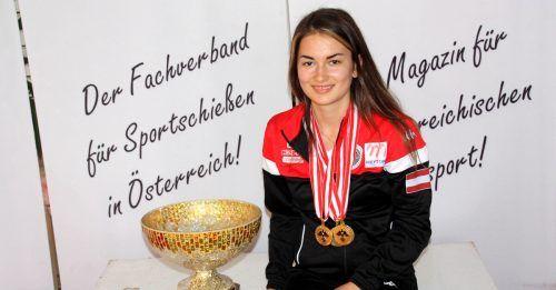 Jungschützin Sheileen Waibel war in Innsbruck eine Klasse für sich.VN