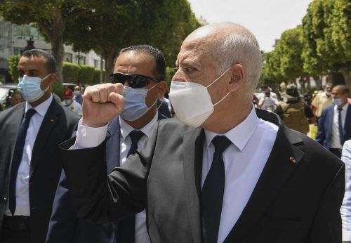 """Kais Saied sagt, er wolle keinen Dialog mit """"Krebszellen"""" führen.AP"""