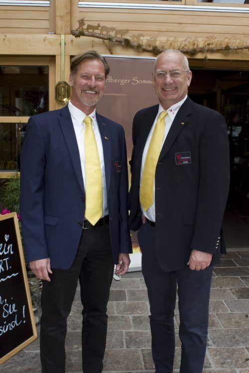 Klaus Tusch und Johannes Hengl feierten mit.
