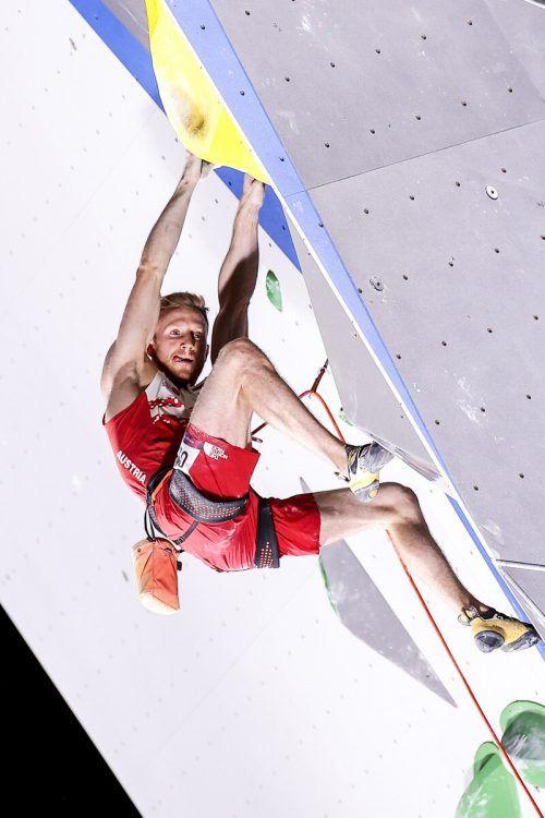 Kletter-Ass Jakob Schubert hat mit dem Finaleinzug bei den Olympischen Spielen in Tokio sein erstes Ziel erreicht.GEPA