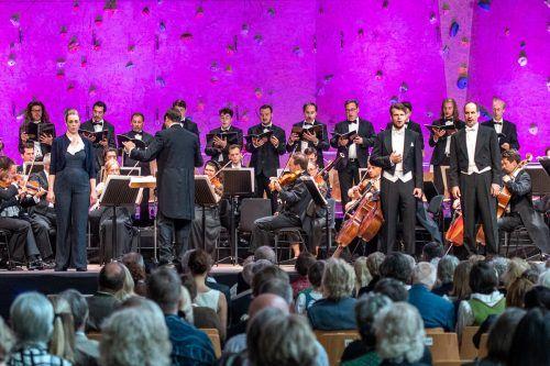 "Konzertanter ""Fidelio"" unter Michael Güttler mit Leah Gordon (Leonore), Peter Kellner (Rocco) und Mathias Hausmann (Don Pizarro). Lech classic festival/Hurnaus"