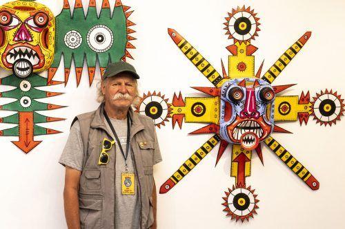 Künstler Helmut King präsentiert noch bis kommenden Sonntag seine Werke in der Galerie 9und20 in Bregenz.