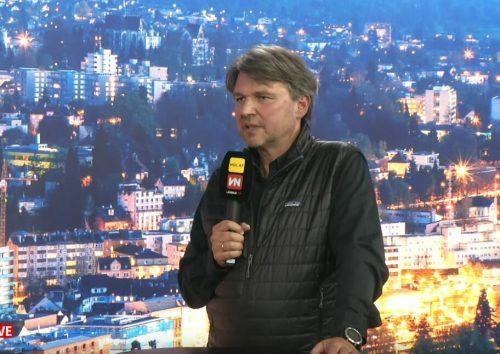 """Kurt Fischer sprach bei """"Vorarlberg live"""" über die geplante S 18."""
