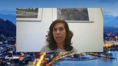 Laura Leyser gibt einen Einblick in die Situation vor Ort. Vorarlberg live