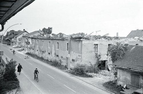 Lauterach, Abbruch der Kaserne, 1968