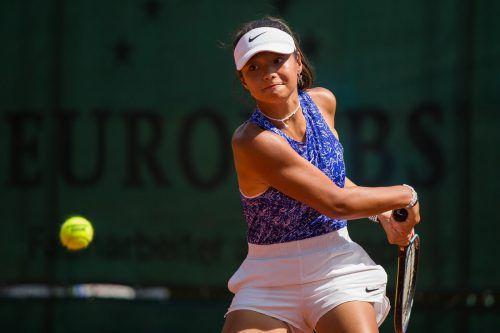 Lokalmatadorin Sydney Stark musste sich in der ersten Runde der Junior Open Vanessa Dobiasova beugen.Steurer