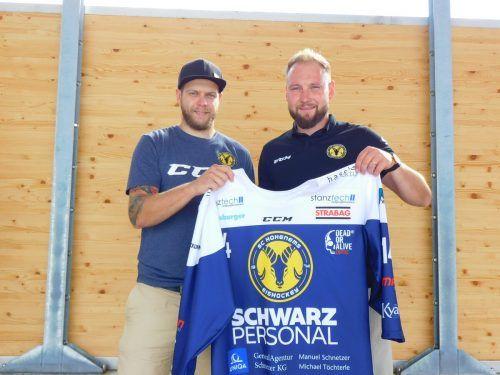 Manuel Merk (l.) stürmt diese Saison für den Hohenemser SC.hsc
