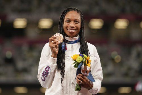 Medaille Nummer zehn bei Olympischen Spielen für Allyson Felix.ap
