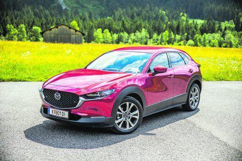 Mehr Leistung, weniger Verbrauch: Mazda hat dem CX-30 ein überarbeitets Topaggregat spendiert. VN/Sams