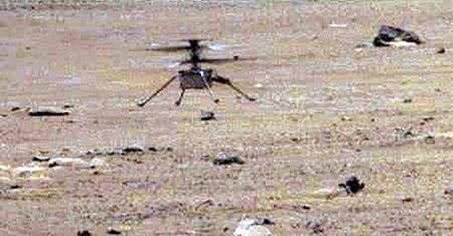 """Mini-Helikopter """"Ingenuity"""" ist auf zwölf Meter aufgestiegen. AFP"""