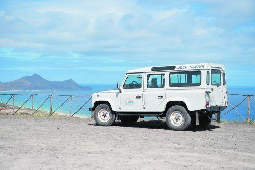 Mit dem Jeep kann man auch die abgelegenen Pfade der Insel rasch erkunden.