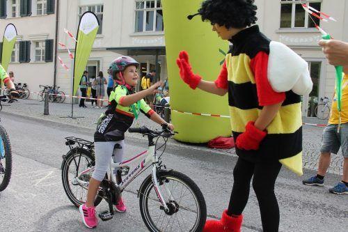 Mit dem KäferleCup soll die Begeisterung der Kinder fürs Radeln gefördert werden. Kurzentschlossene können sich noch vor Ort nachmelden. Ein Helm ist Pflicht. VLK