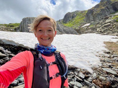 Nichts Ungewöhnliches: Die Zeit für ein Selfie am Madloch, wo auch im Sommer noch Schneefelder anzutreffen sind, muss sein.VN