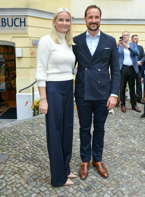 Prinzessin Mette-Marit und Prinz Haakon dpa