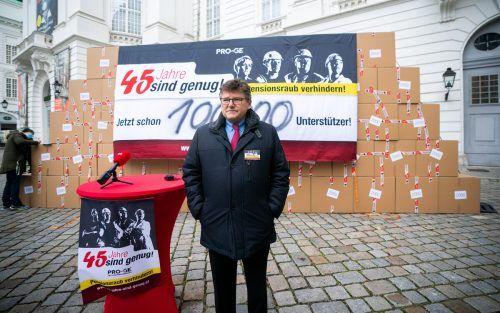 """PRO-GE-Chef Rainer Wimmer: """"Beim Abschluss muss es ordentlich rascheln."""" apa"""