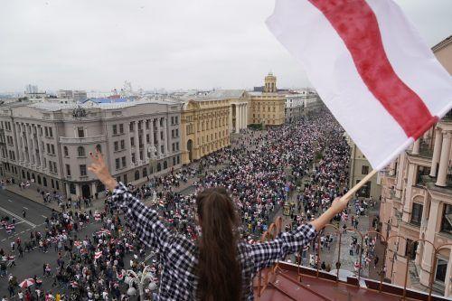 Proteste gegen Lukaschenko vor einem Jahr wurden niedergeschlagen.AP
