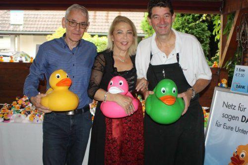 Quadro Ernst, Martina und Roland Vith (Rankweiler Hof) sammelten Spenden. VN/TK