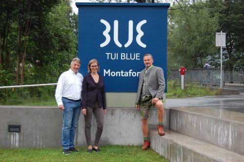 Rainer Schütterle und Manfred Bender mit Tui-Blue-Chefin Viktoria Blecha.???